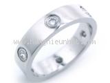 Nhẫn Cartier full kim cương size 63 nam