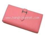 NEW Ví da Hermes màu hồng