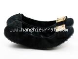 MS4762 Giày Louis Vuitton size 35M đen da nhung