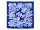 MS4608 Khăn Hermes hoa xanh