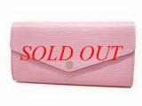 Ví da Louis Vuitton epi màu hồng M61216