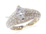 Nhẫn Cartier K18YG kim cương size 47