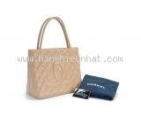 Túi xách Chanel Tote màu kem A01804