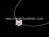 Vòng cổ Hermes chữ H màu hồng