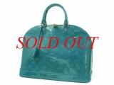 Túi Louis Vuitton Alma MM venis màu xanh M93628