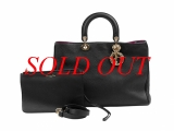 MS4784 Túi Christian Dior diorissimo đen kèm quai