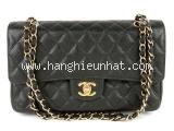 Túi xách Chanel caviar màu đen khóa vàng