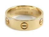 Nhẫn hiệu Cartier vàng K18YG size 59