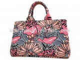 Túi xách Prada hoa màu hồng ghi B2642B