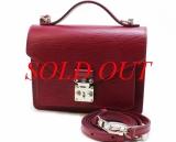 Túi hiệu Louis Vuitton monceau BB màu đỏ
