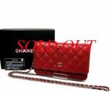 Túi hàng hiệu Chanel WOC đỏ