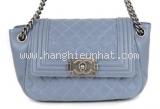 S Túi xách Chanel boy màu xanh blue