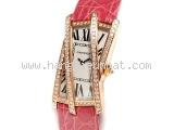 Đồng hồ Cartier K18PG kim cương WJ303550