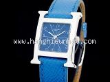Đồng hồ Hermes màu xanh bạc HH1.210