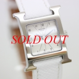 S Đồng hồ Hermes dây da trắng HH1.210