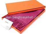 NEW Khăn Hermes cashmere màu hồng