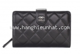 NEW Ví da Chanel màu đen A48667