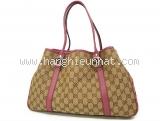 Túi xách nữ Gucci màu be viền da hồng 232957