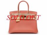 Túi xách Hermes birkin 30 epson hồng cam fllamingo
