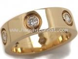 Nhẫn vàng Cartier Love ring đính kim cương size 48