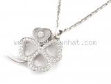 Vòng cổ vàng trắng Chopard kim cương 797862-1003