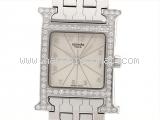 Đồng hồ nữ Hermes kim cương màu ngà HH1.230
