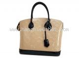 Túi xách Louis Vuitton lockit màu kem đen M90251