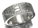 S Nhẫn Hermes K18WG kim cương size 55