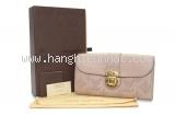 Ví da Louis Vuitton màu kem hồng M58094