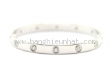 Vòng tay Cartier love K18WG full diamond size 17