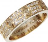 SA Nhẫn Cartier mini paved K18YG kim cương size 51