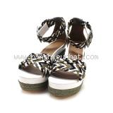 Sandal Hermes đen ghi size 35