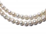 Dây chuyền ngọc trai Mikimoto kim cương(hai vòng)