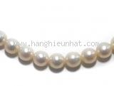 Vòng cổ ngọc trai Mikimoto vàng trắng K14WG(ngọc 6.4 ~ 6.8mm)