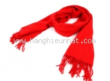 S Khăn Hermes Cashmere màu đỏ