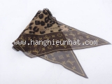 Khăn Louis Vuitton cleopard màu nâu