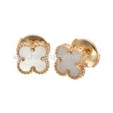 Bông tai Van Cleef & Arpels vàng trắng VCARA44800
