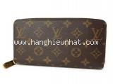 Ví da Louis Vuitton zippy màu nâu M60017