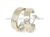 S Bông tai Cartier K18WG kim cương