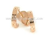 S Bông tai Cartier vàng hồng K18PG size nhỏ