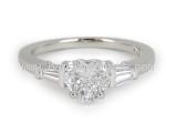 Nhẫn Bvlgari Pt950 kim cương 1.01ct size 12.5