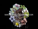 Nhẫn Christian Dior hoa đa sắc size 7