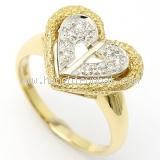 Nhẫn Christion Dior vàng K18YG - WG kim cương