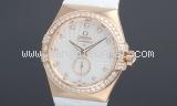 New Đồng hồ Omega K18PG kim cương 123.58 unisex