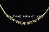 Vòng cổ Mikimoto K18YG sapphire kim cương