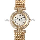 Đồng hồ Cartier K18YG kim cương