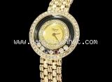 Đồng hồ Chopard K18YG kim cương ruby Sapphire