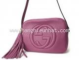 Túi xách nữ Gucci  Soho Disco màu đỏ tía 308.364