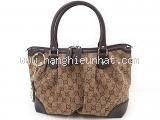 Túi xách nữ Gucci Sukey viền da nâu đen 247.902