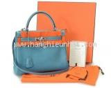 Túi xách Hermes Kelly 28 Cremins Blue Gene S